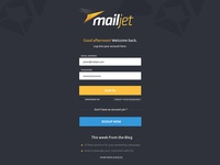 New Mailjet login page