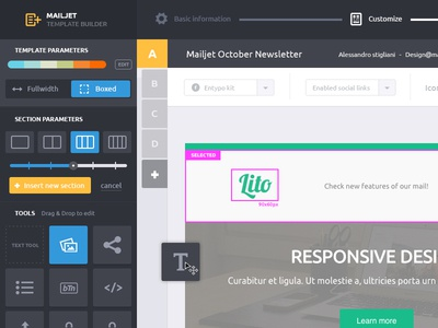 Mailjet Template Builder WIP mailjet template builder template emailing email wysiwyg