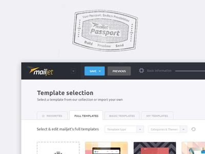 Mailjet Passport drag  drop passport builder newsletter template emailing email mailjet