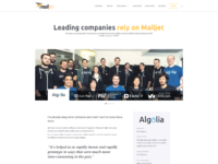 Mailjet front customers
