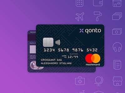 Qonto debit card packshot bank financial finance fintech card banking debit card online banking packshot credit card