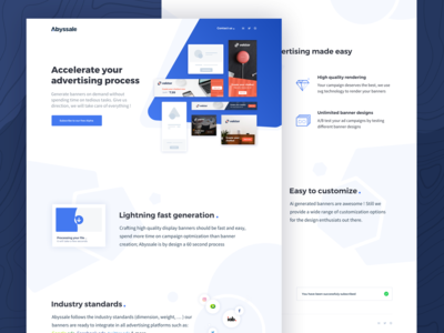 Abyssale landing page