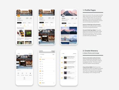 Final screens for travel app ux ui travel app travel