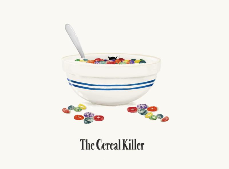 The Cereal Killer drawing digitalillustration digital art procreate cereal breakfast foods illustration