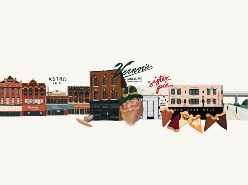 Detroit Collage drawing digitalillustration digital art procreate illustration detroit