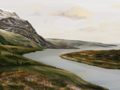 Digital Painting - Mountains