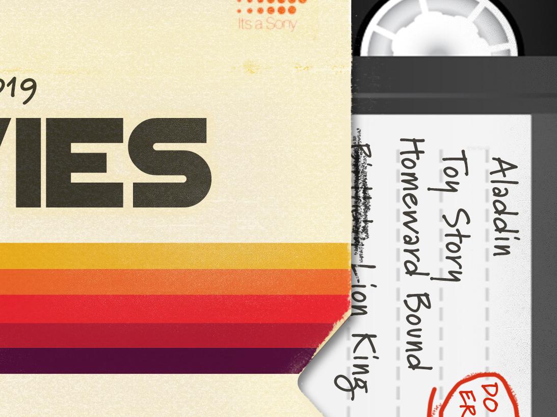 At the Movies: VHS keynote graphic design church sermon series actionchurch