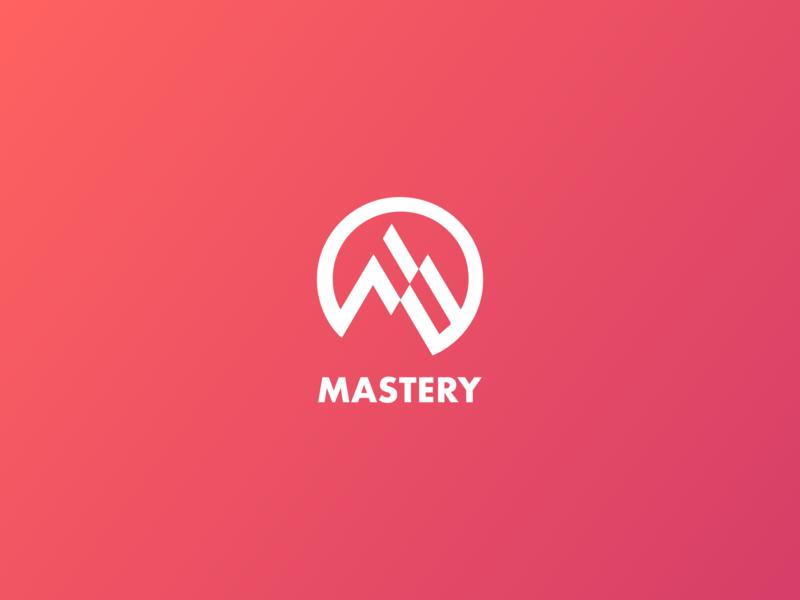 Mastery Logo app icon icon flat  design idenity vector mountain illustration digital artwork graphic design habit tracker logo