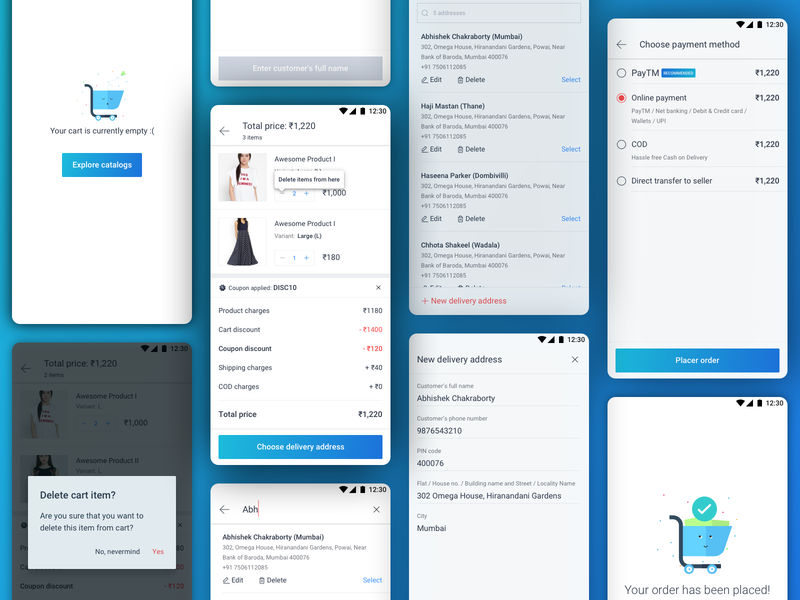 Checkout Flow ui design ui ux ui  ux design cart checkout page ecommerce design checkout flow checkout ecommerce app ecommerce design visual design ui ux design uidesign