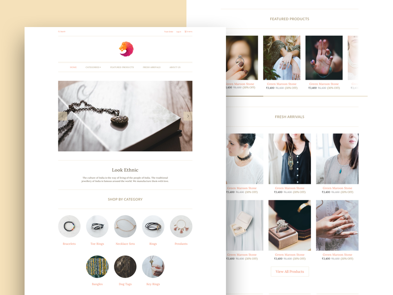 Chic - Jewellery Store Website Theme visual design online jewellery store online store minimal app design clean design shopify store ecommerce website jewellery store jewellery shop jewellery website design ux ui design ui design ux design