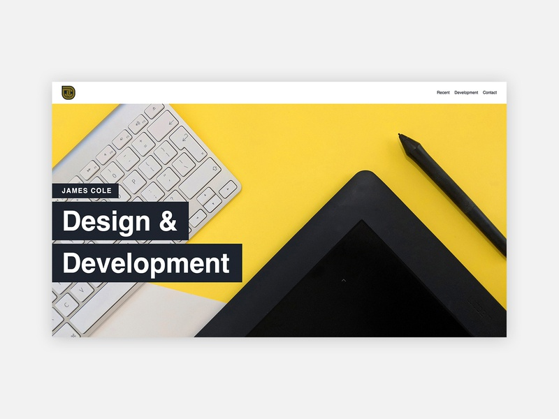 Free Code Camp Portfolio Project By James Cole On Dribbble
