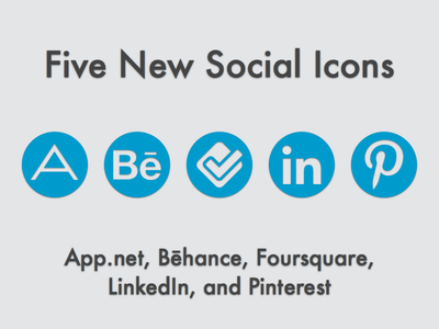 New Social Icons (May 2013) social icons vector sketch icon set app.net adn behance foursquare linkedin pinterest