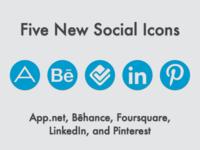New Social Icons (May 2013)