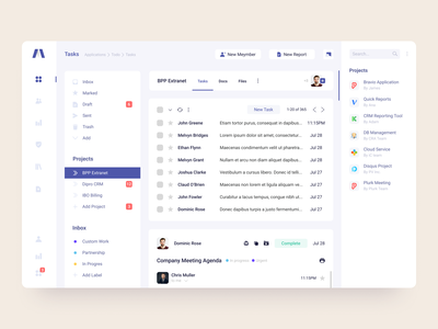 Sales manager inbox page ui ux design branding interface sales mail inbox