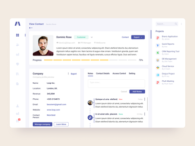 Sales manager profile page profile card manager sale profile ux ui