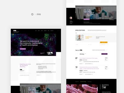 FMI institute landing page minimal website web webdesign visualdesign ui interface design interface design