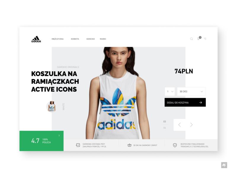 Adidas hero concept template brand dailyui minimal sketch figma ux ecommerce adidas visualdesign site website web landingpage webdesign ui interface design interface design
