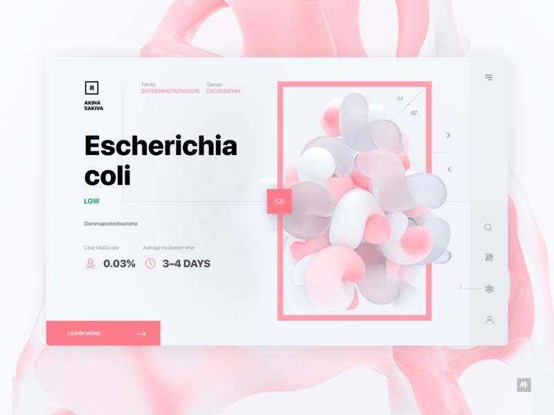 Biology encyclopedia cinema 4d render product design web design app concept app dailyui landing page ux layout site website web webdesign minimal ui visualdesign interface design interface design