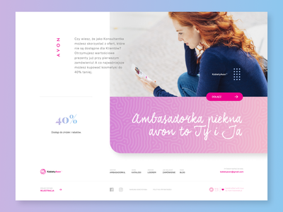 kobietyavon footer ux minimal visual site dailyui landing page landingpage page website web webdesign ui visualdesign interface design interface design