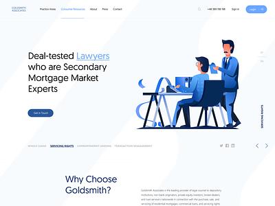 Goldsmith Associates vector illustration app app concept template visual ux dailyui site landing page landingpage page website web webdesign ui visualdesign interface design interface design