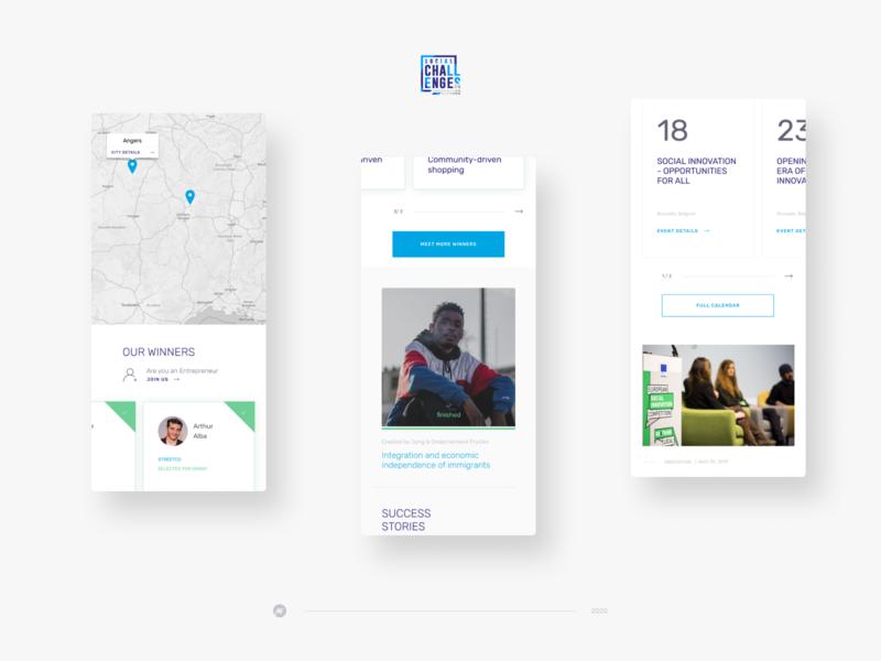 Social Challenges - mobile application social rwd responsive mobile app design appdesign app landing page minimal website ui webdesign web visualdesign interface design interface design