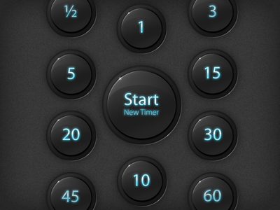 Buttons for a mobile app mobile app ios interface timer
