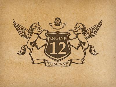 Engine12, Co. logo horse firefighting