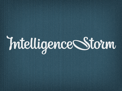 Logo ver. for IStorm intelligencestorm lettering logo