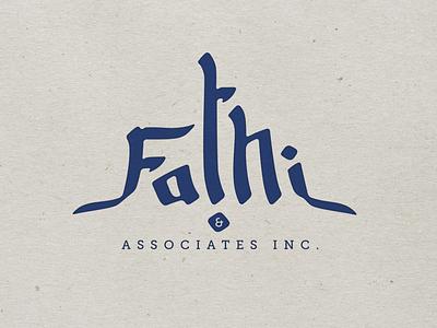 Fathiinc oriental arabic logo lettering