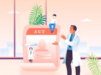 Agt  Medical insurance business illustration