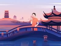 Hangzhou City illustration