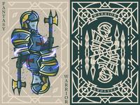 Fantasy warrior《Crusader Swordman》 弟仔 game card middle ages fantasy warrior illustration