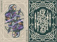 Fantasy warrior《Crusader crossbowman》 弟仔 game card middle ages fantasy warrior illustration