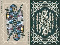 Fantasy warrior《Crusader Spear Thrower》 弟仔 game card middle ages fantasy warrior illustration