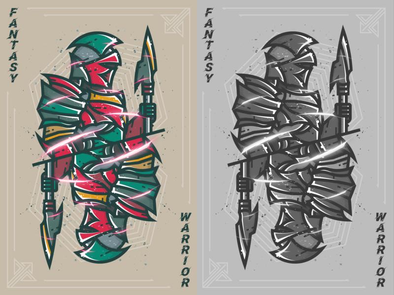 Fantasy warrior--24 warrior fantasy warrior 插图 illustration 弟仔 dora-s