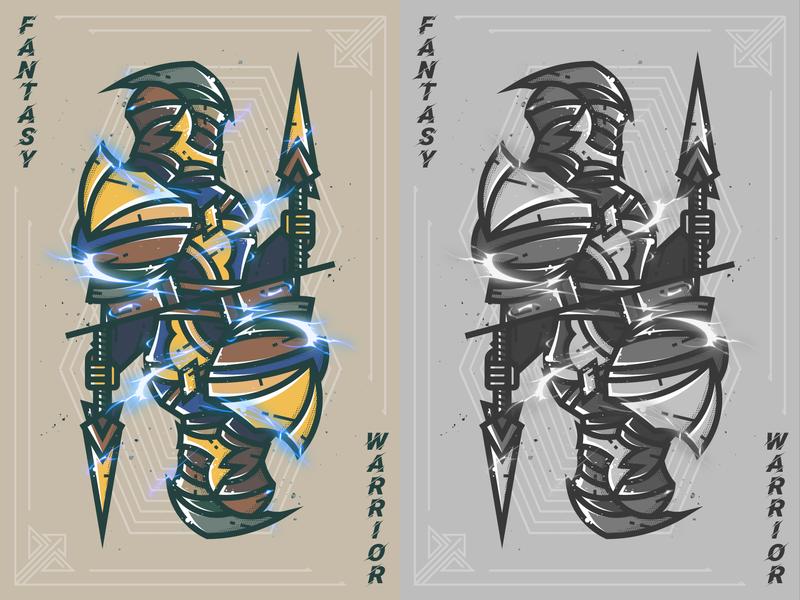 Fantasy warrior--26 fantasy warrior 弟仔 warrior illustration dora-s 插图