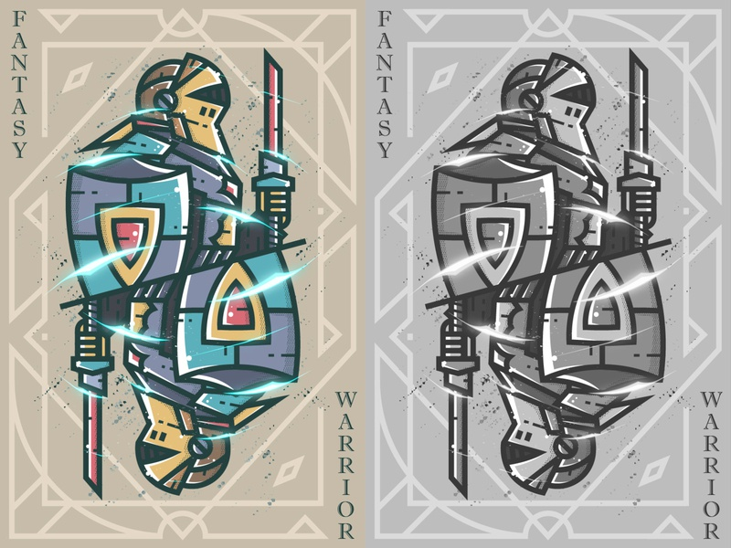 Fantasy warrior--33 illustration game card fantasy warrior 弟仔