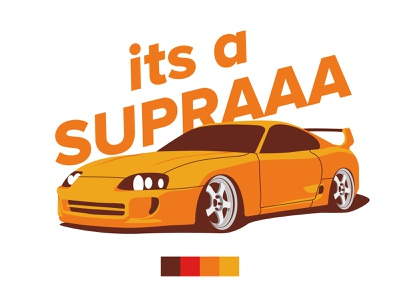 Toyota Supra toyota automotive jdm supra vector flat stance car illustration