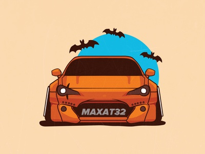 GT86 halloween halloween toyota gt86 jdm drift stance car illustration