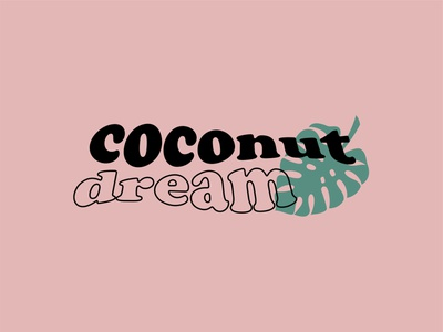 Logo coconut dream beuty cosmetic dream coconut coco logo