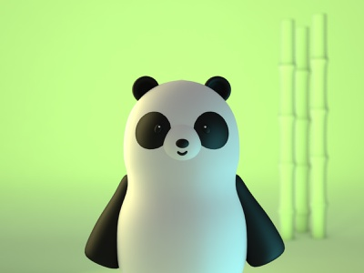 Cute Panda in 3d render cinema4d animal panda c4d 3d