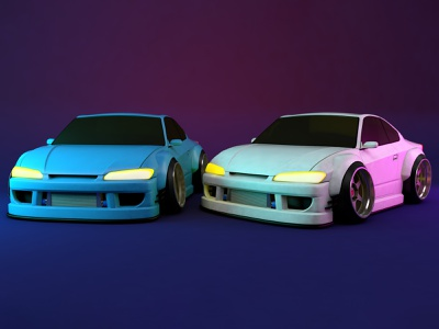 Silvia S15 toy cars toy c4d render s15 silvia nissan dift jdm automotive car 3d