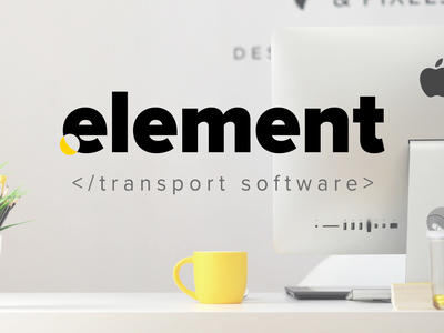 Logo Element e it software element logo