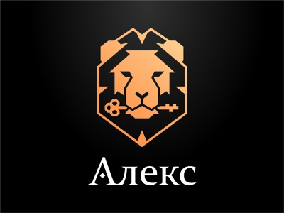 Logo Alex - construction company a polygon head building contruction lion illustration logo