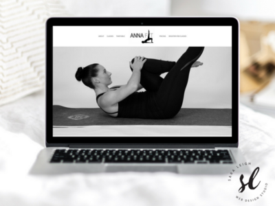 Anna Fit One Page WordPress Website