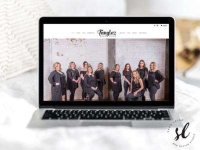 Tanglez Hair Studio WordPress Website