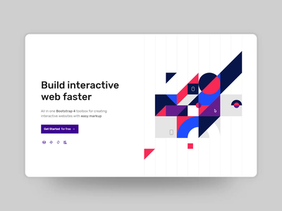 Illustration Reveal svg shapes geometric bootstrap vector minimal design flat ui torus kit interaction animation