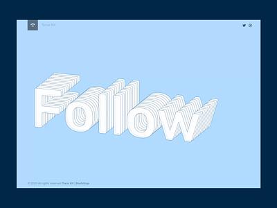 3D text follow svg vector design minimal flat html ui torus kit interaction css animation