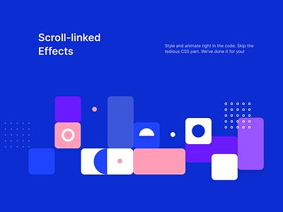 Scroll linked effects section scroll svg landing design minimal flat html interaction ui torus kit css bootstrap