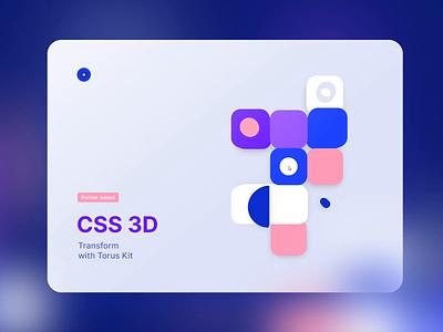 CSS 3D Transform with Torus Kit effect svg transform 3d mouse landing design minimal flat html interaction ui torus kit css animation bootstrap